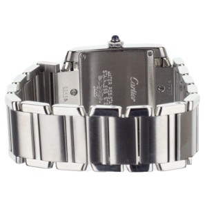 Cartier Tank Francaise Medium Stainless Steel White Dial Quartz 30x25mm 2465