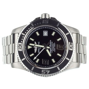 Breitling Superocean 44 Stainless Steel Black Dial a17391 Serviced 2021
