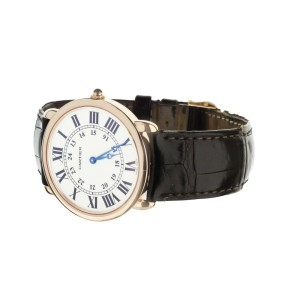 Cartier Ronde Louise Rose Gold Silver Dial Manual Wind 36mm w6800251 Full Set