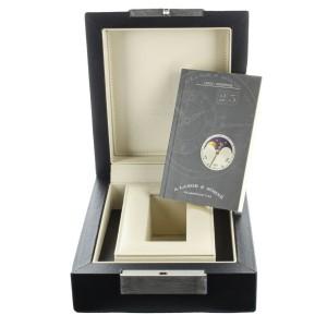 A. LANGE AND SOHNE LANGE 1 MOONPHASE ROSE GOLD MANUAL WIND 38.5MM 109.032