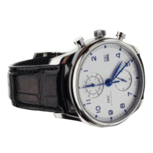 IWC Portugieser Chronograph Classic stainless steel 42mm IW390302 Full Set