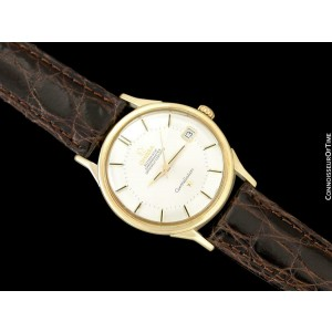 1965 OMEGA Vintage Mens Pie Pan Dial Constellation, Automatic, Date - 14K Gold