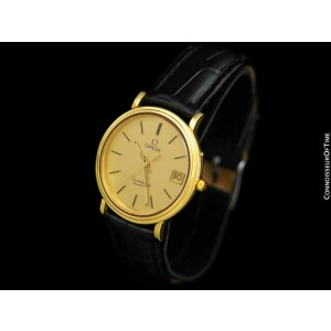 1980 OMEGA CONSTELLATION Mens Vintage 18K Gold Plated Watch - Mint with Warranty
