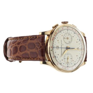 Chronographe Suisse Vintage Yellow Gold 38mm Chronograph Manual Wind