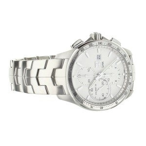 TAG HEUER LINK CHRONOGRAPH STAINLESS STEEL WHITE DIAL 43MM CAT2011