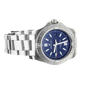 BREILTING COLT AUTOMATIC STAINLESS STEEL BLUE DIAL 44MM A17388 FULL SET