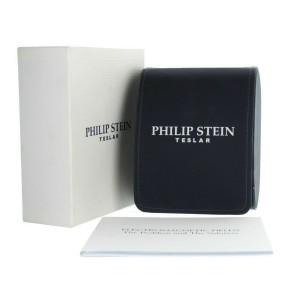 PHILIP STEIN TESLAR CHRONOGRAPH STAINLESS STEEL RUBBER STRAP 57X37MM