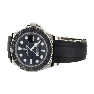 Rolex Yacht-Master White Gold Black Dial Oysterflex Rubber 42mm 226659 Full Set