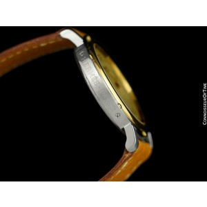 Hermes Mens Clipper 2-Tone Quartz SS Steel & 18K Gold Pl. Watch - $5,350 Mint