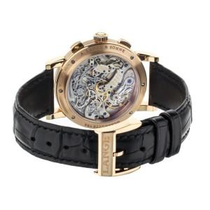 A. Lange and Sohne 1815 Chronograph Black Dial Rose Gold 39mm 414.031 Full Set