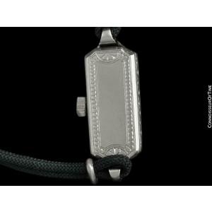 1933 TIFFANY & CO. Longines Ladies Vintage Platinum & Diamonds Watch - Warranty