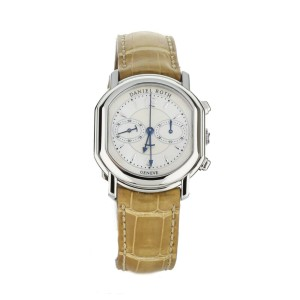 Daniel Roth Chronograph Stainless Steel Mother of Pearl 38x31 mm Full Set