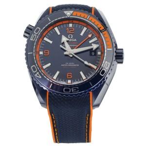 "OMEGA SEAMASTER PLANET OCEAN ""BIG BLUE"" CERAMIC 44.5MM 21592462203001 FULL Set"