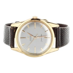 OMEGA SEAMASTER AUTOMATIC 147.004 35MM YELLOW GOLD CASE LEATHER STRAP