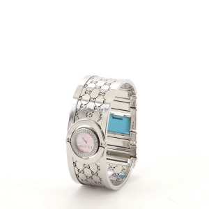 Gucci Twirl Quartz Watch Stainless Steel with Diamonds and Mother of Pearl 23