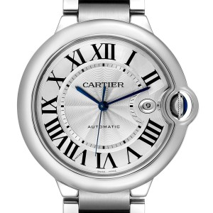 Cartier Ballon Bleu 42 Steel Automatic Mens Watch