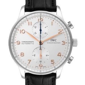 IWC Portuguese Chrono Automatic Stainless Steel Mens Watch IW371445