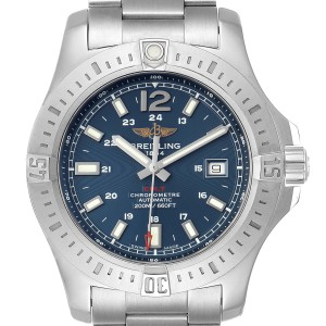 Breitling Colt Blue Dial Automatic Steel Mens Watch A17388