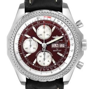 Breitling Bentley Motors GT Burgundy Dial Steel Mens Watch A13362