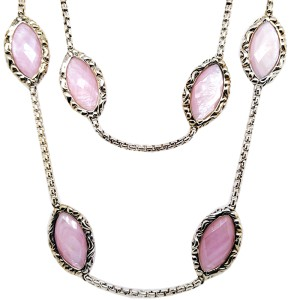Charles Krypell 4-6989-PMP36 Sterling Silver Pink Mother of Pearl Necklace