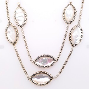 Charles Krypell 4-6989-WMP36 Sterling Silver Mother of Pearl Necklace