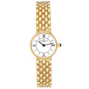 Baumer Mercier 14k Yellow Gold White Dial Cocktail Ladies Watch