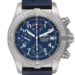 Breitling Avenger Blue Dial Chronograph Titanium Watch E13360