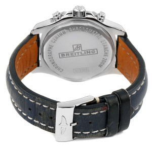 Breitling Colt Chronograph Blue Subdials Steel Mens Watch A73388