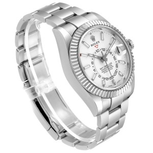 Rolex Sky-Dweller White Dial Steel White Gold Mens Watch