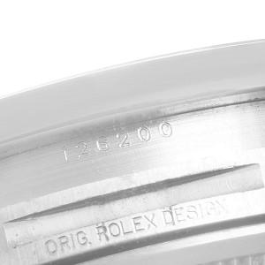 Rolex Datejust White Dial Oyster Bracelet Steel Mens Watch 126200