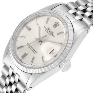 Rolex Datejust Silver Dial Vintage Steel Mens Watch 1603