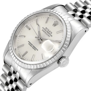 Rolex Datejust Silver Dial Jubilee Bracelet Steel Mens Watch