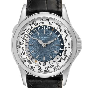 Patek Philippe World Time Complications Platinum Watch 5110 Box Papers
