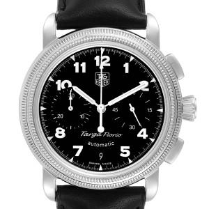 Tag Heuer Targa Florio Black Dial Chronograph Steel Mens Watch CX2112