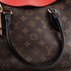 Louis Vuitton Tuileries Handbag Monogram Canvas with Leather