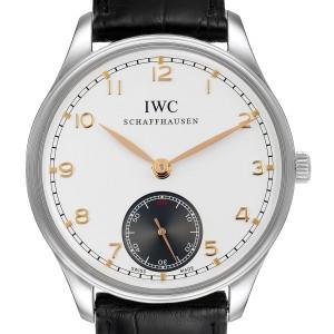 IWC Portuguese Silver Dial Manual Wind Steel Mens Watch IW545405