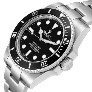 Rolex Submariner 40mm Ceramic Bezel Steel Watch 114060 Box Card