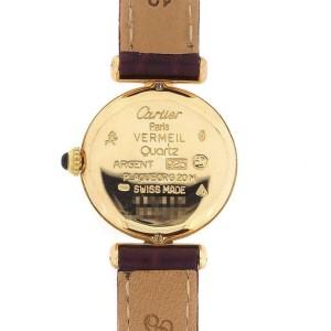 CARTIER VERMEIL COLISÈE Quartz GoldPlated Diamond Watch