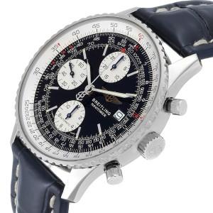 Breitling Navitimer II Black Dial Steel Mens Watch