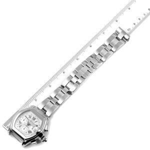 Cartier Roadster Silver Dial Chronograph Steel Mens Watch W62006X6