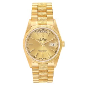 Rolex President Day-Date 36mm Yellow Gold Mens Watch 18248