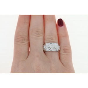 Carrera y Carrera 18K White Gold with 0.24ctw Diamond Grave Leaves Ring Size 6.25
