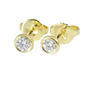 Tiffany & Co. 18K Yellow Gold & 0.12ctw. Diamond By The Yard Pierced Earrings
