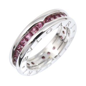 Bulgari B-Zero 1 18K White Gold with Garnet Ring 4.25