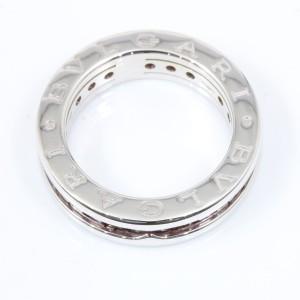 Bulgari B-Zero 1 18K White Gold with Garnet Ring 4.25