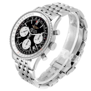 Breitling Navitimer Black Dial Chronograph Steel Mens Watch A23322 Box Papers
