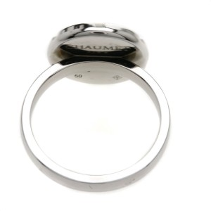 Chaumet 18K White Gold with Moonstone & Diamond Class One Ring Size 5.25