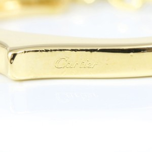 Cartier Chain Bar Tie Tack Pin 18K Yellow Gold & Stainless Steel
