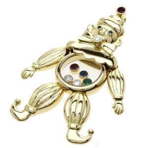 Chopard Clown 18K Yellow Gold Ruby, Emerald, Sapphire, Diamond Pendant