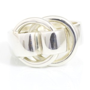 Hermes Sterling Silver Ring Size 5.75